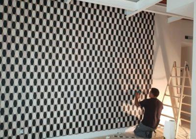 Reforma en Madrid Instalación de papel pintado